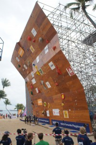 The climbing wall (Picture: teamspore.com/global-sports)